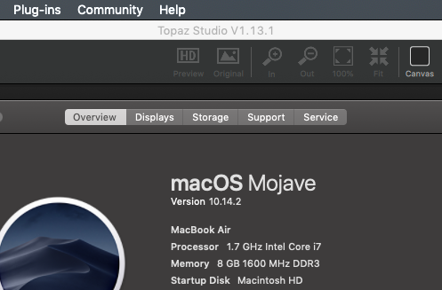 Topaz Studio and A I  Gigapixel don't start on Mac OS Mojave